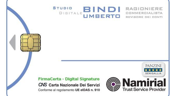 FIRMA DIGITALE FORNITA DALLO STUDIO
