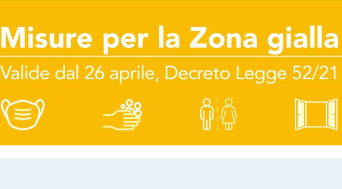 Toscana Zona Gialla dal 21.4.2021